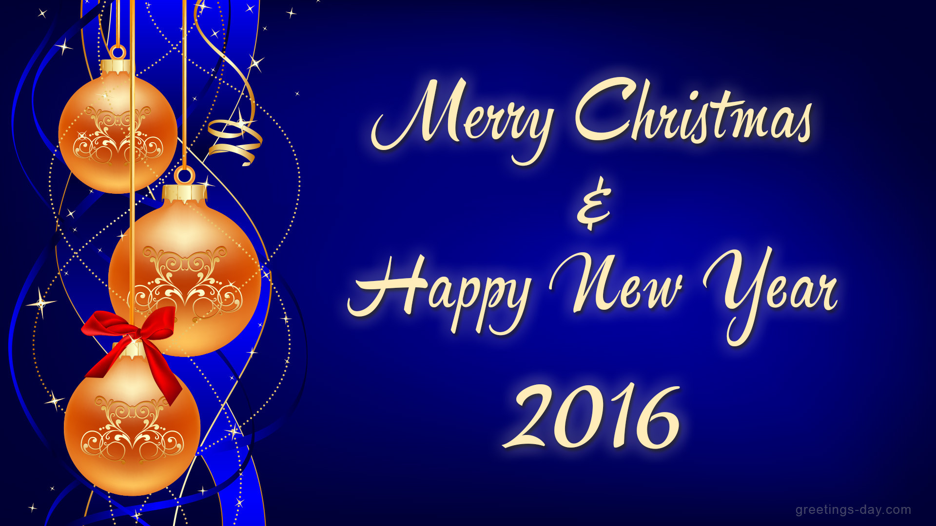 Happy Year 2017 And Christmas Greetings Merry New
