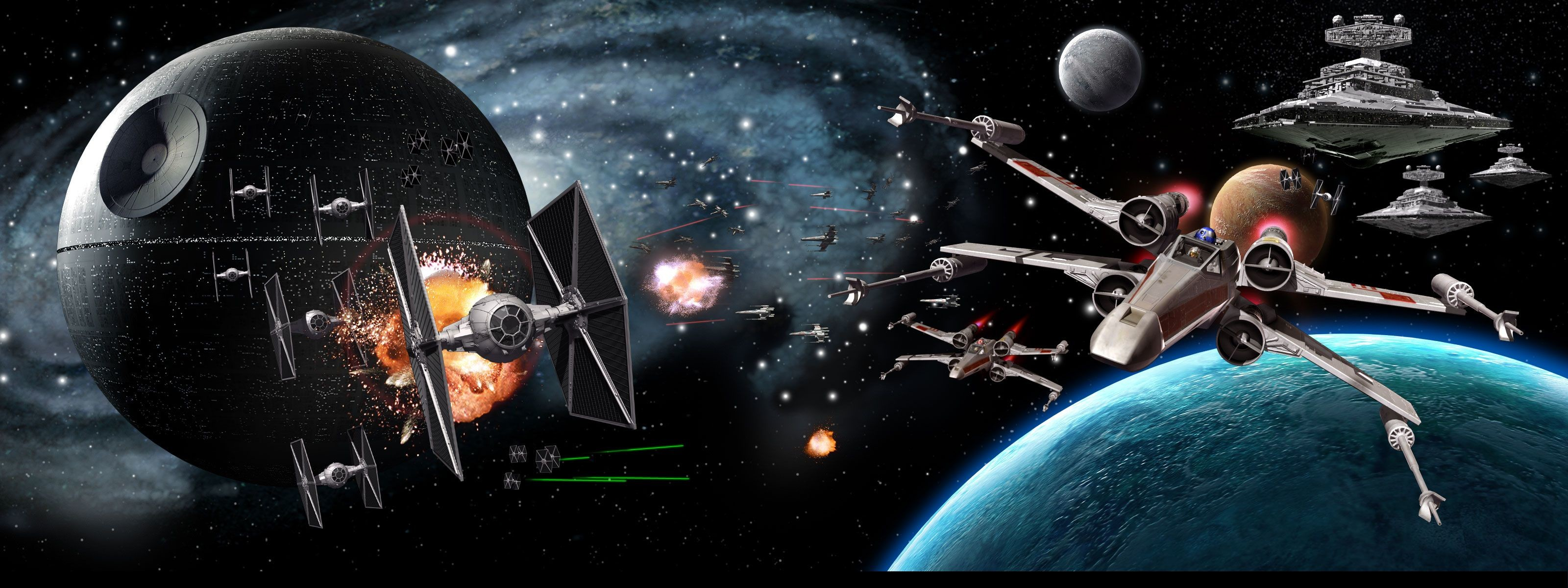 Star Wars 3 Monitor Wallpaper  22  images  3200x1200