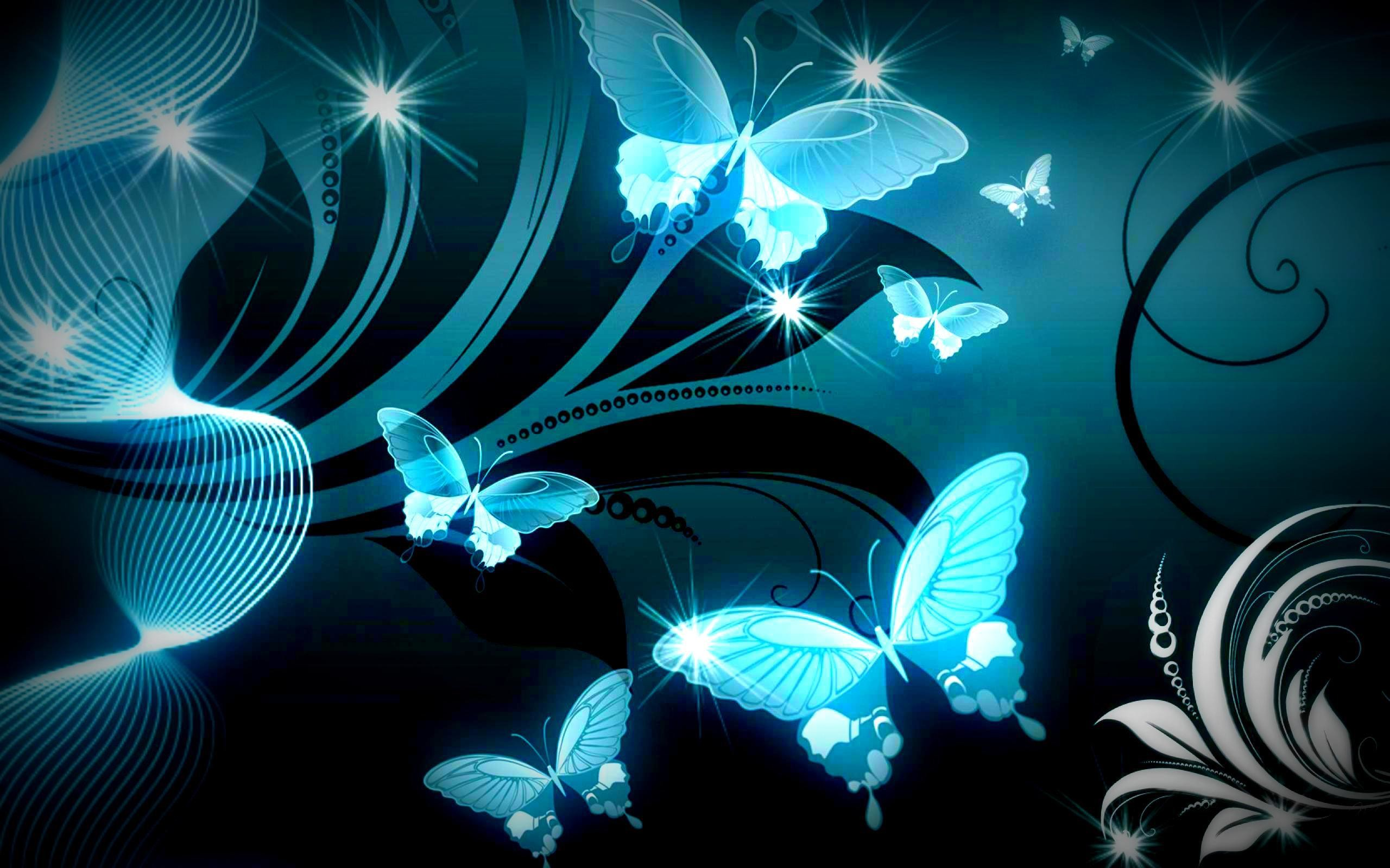 Butterfly Screensavers and Wallpapers  53  images  2560x1600 SPARKLE BLUE BUTTERFLIES WALLPAPER     117796    HD Wallpapers