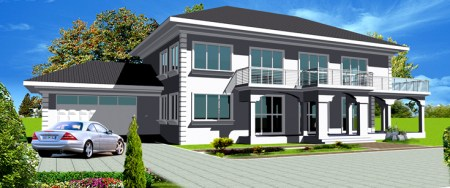House Plans Online for African   Instant PDF Download House Plans Online     Nhyira House Plan  Pre Order