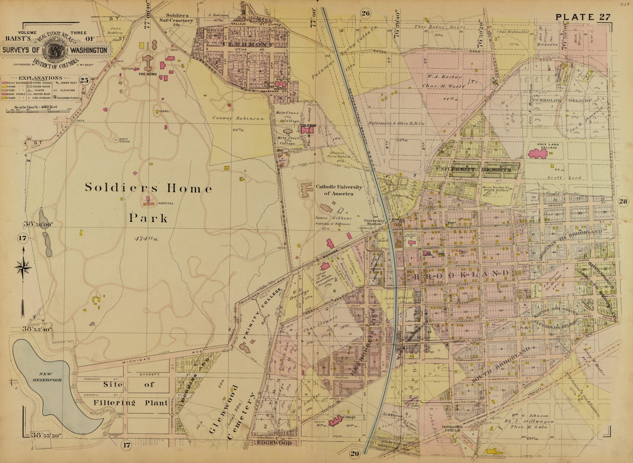 Map Of Brookland In 1903 Ghosts Of Dc
