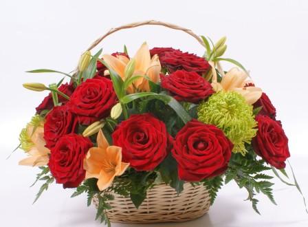 Bouquet on a ruby wedding