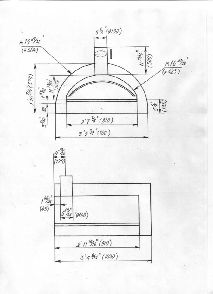 Wood Pizza Oven Construction