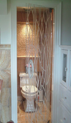 Residential Projects Etched Stained Glass Doors And