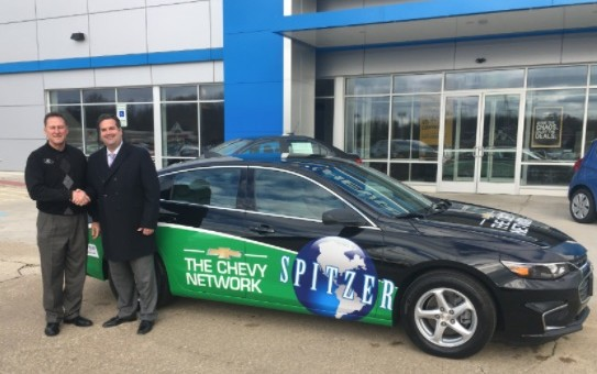 Chevy Dealer Donates 2016 Malibu To School   GM Authority Spitzer Chevrolet General Manager Jerry Draga  left  and Nordonia High  School Principal Casey Wright