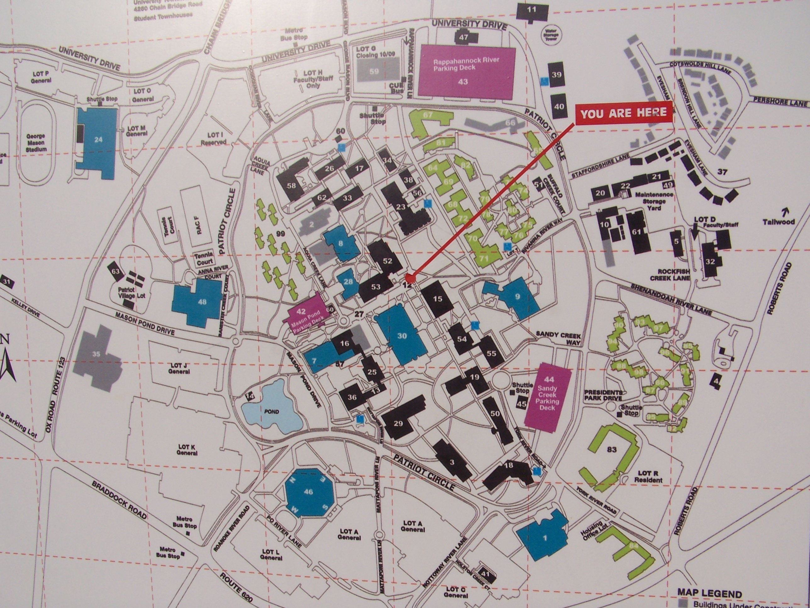 George Mason University Campus Map and Transportation to Nation s     George Mason University Campus Map