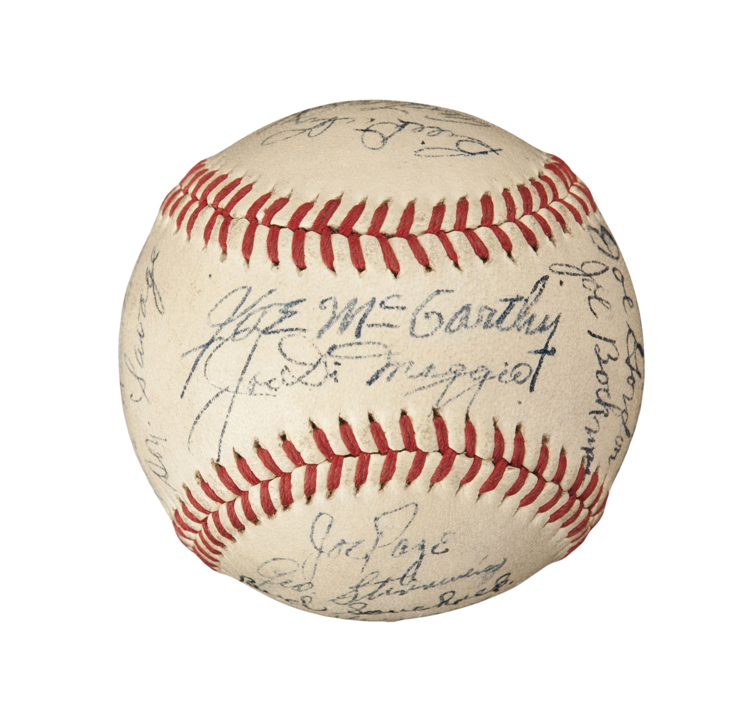 Lot Detail - 1946 New York Yankees Team Signed Baseball ...