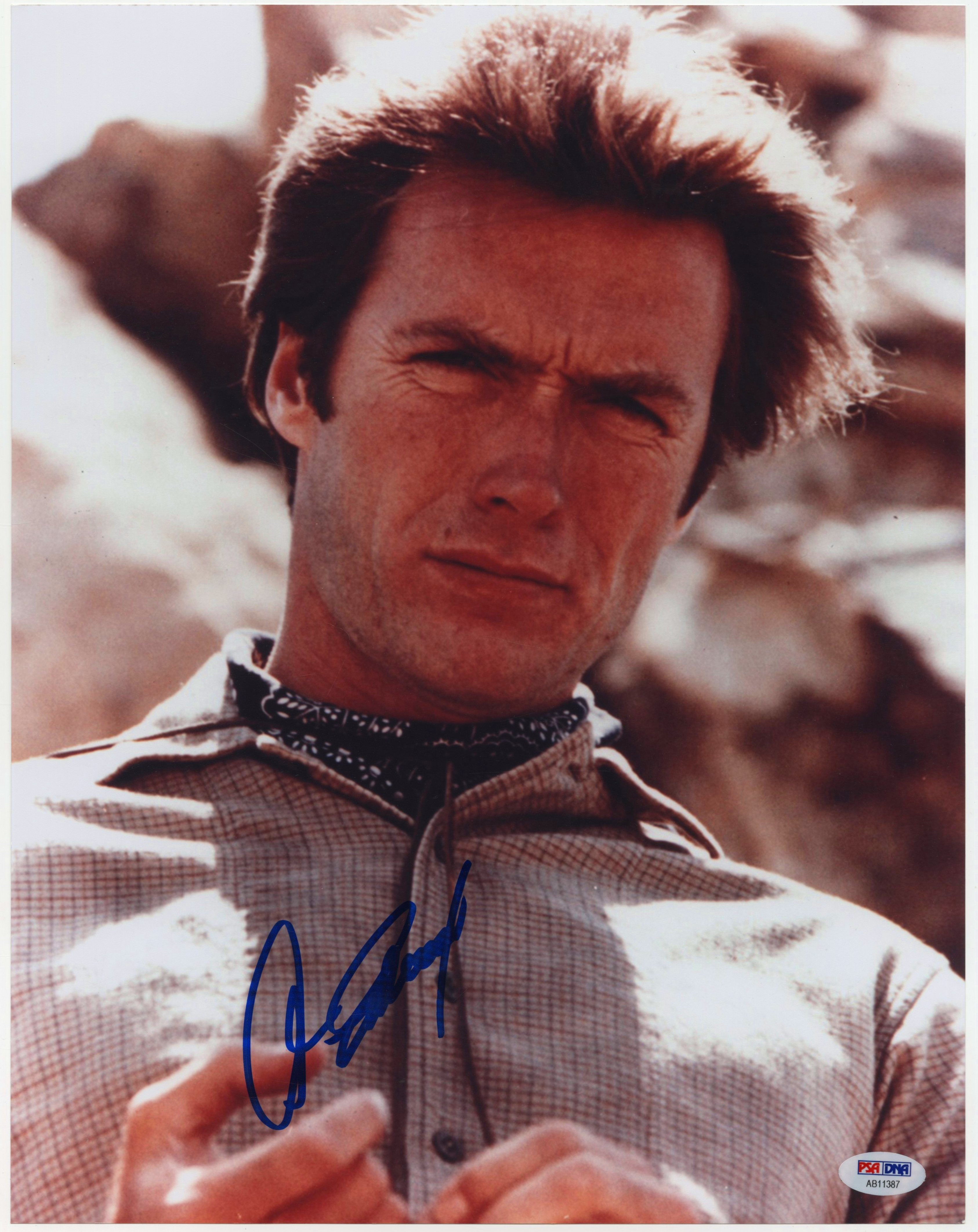Lot Detail Lot Of 3 Clint Eastwood Signed 11x14 Photos