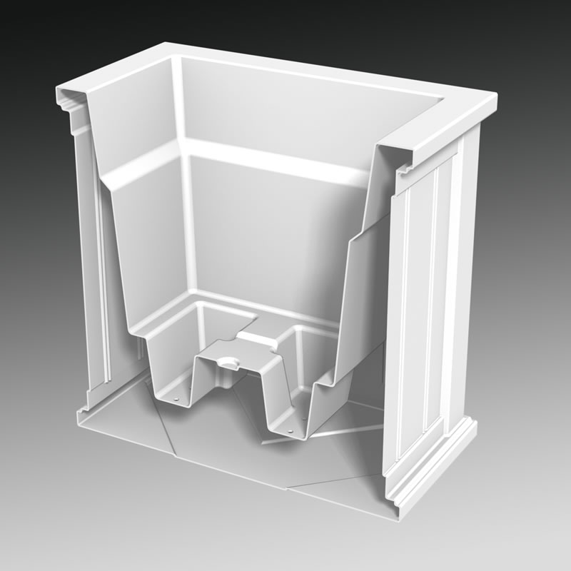 White Window Planter Boxes