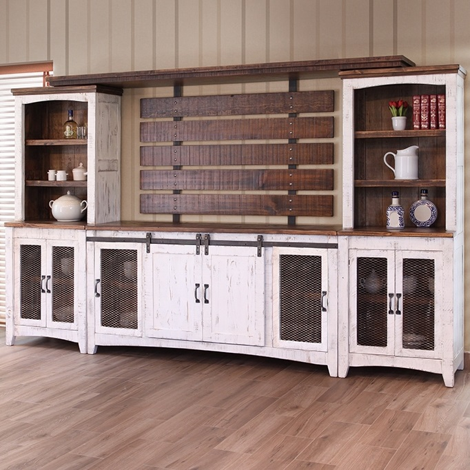 Rustic White Wall Unit