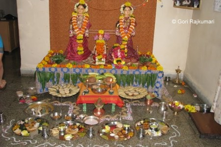 Gauri Pooja and Ganesha Chathurthi   Gori Rajkumari On