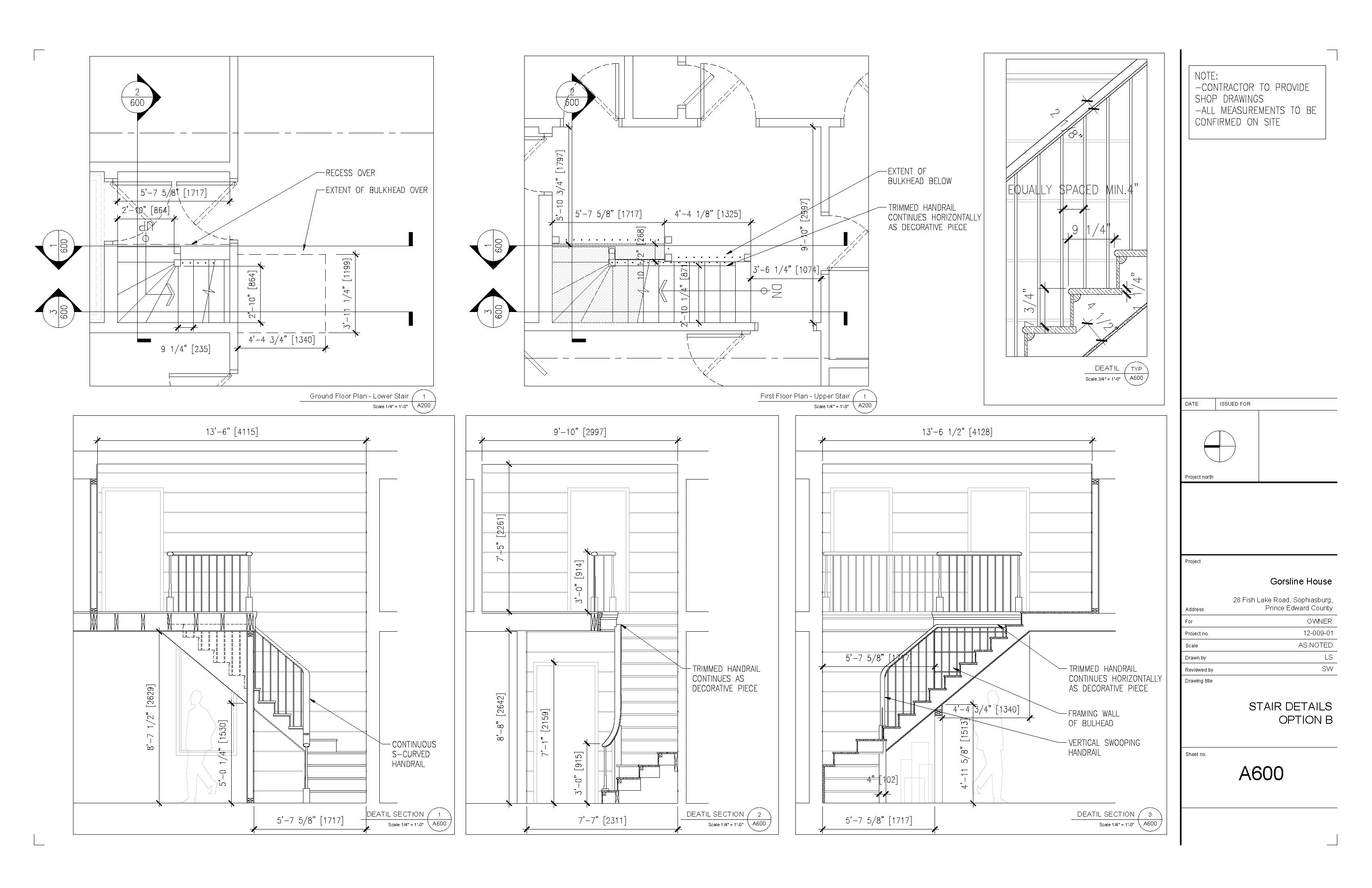 New stair plans gorsline house