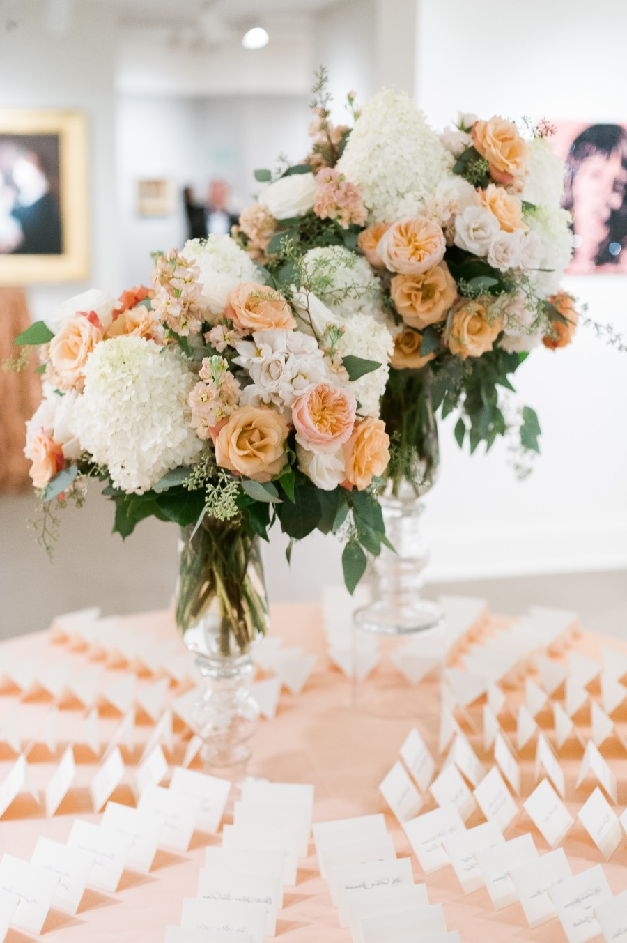Bright Pink Rose Centerpieces