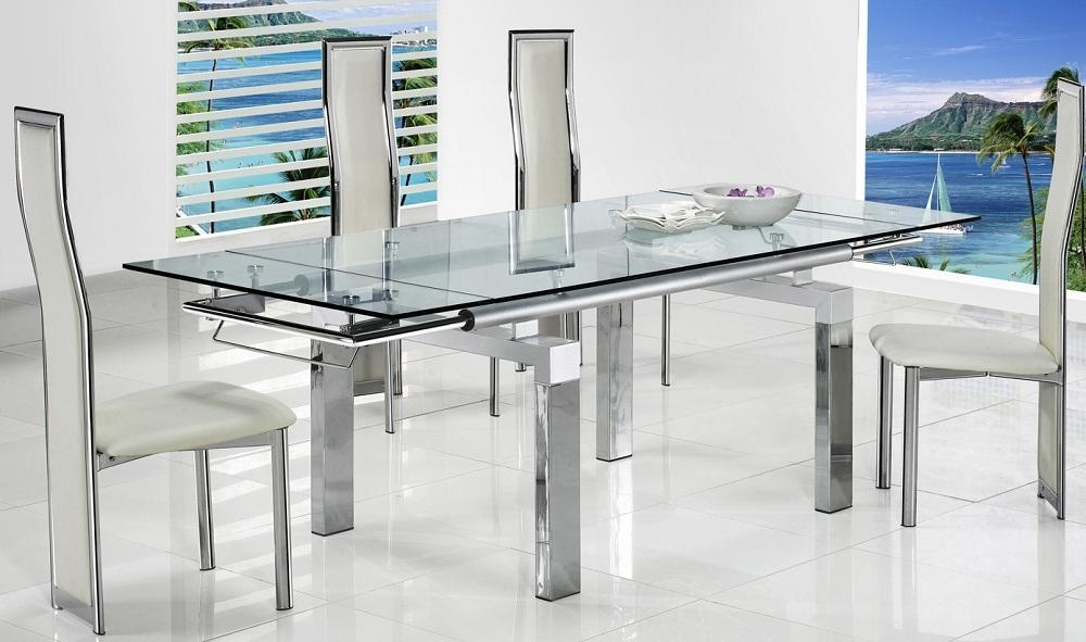 White Kitchen Extendable Table