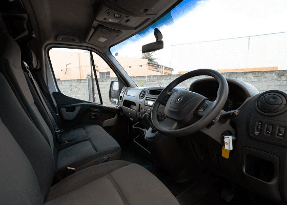 2 ton van hire interior view