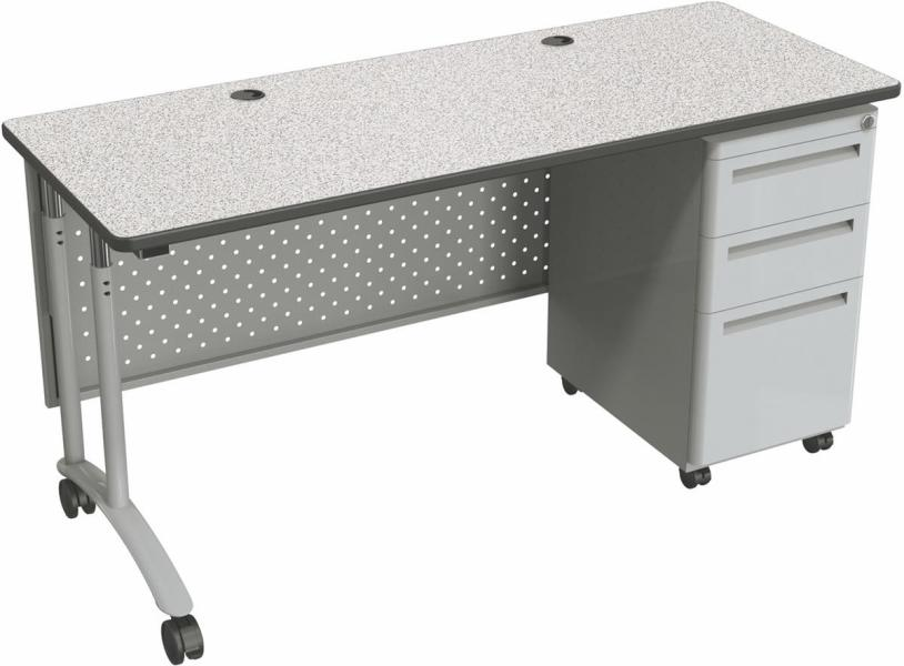 Standing Office Desk   Perforated Modesty Panel