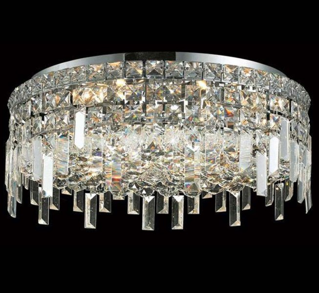 Maxim Collection 20    Dia Large FLush Mount Crystal Ceiling Light     Maxim Collection 20    Dia Large FLush Mount Crystal Ceiling Light