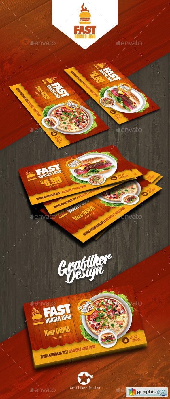 Restaurant Business Card Templates 20760814 187 Free