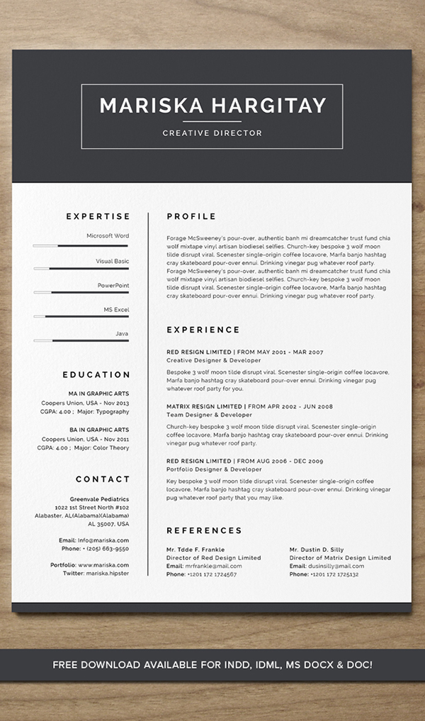 75 Best Free Resume Templates of 2018 Mariska Hagitary Free Resume Template  DOWNLOAD