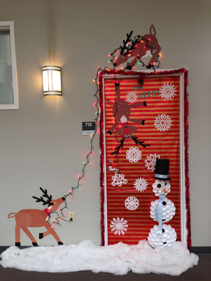 Decorate Your Office Door Holidays