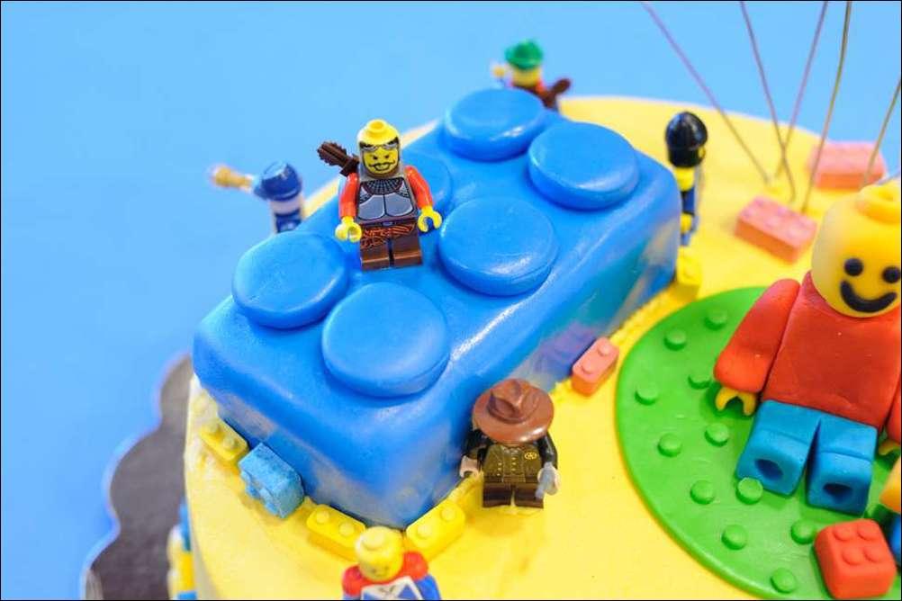 Lego Birthday Cake Gray Barn Baking