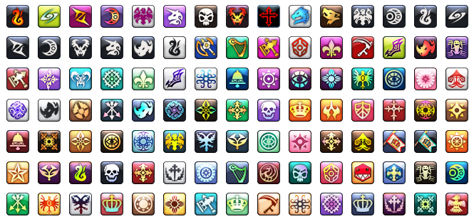 Ragnarok Guild Emblems 24x24