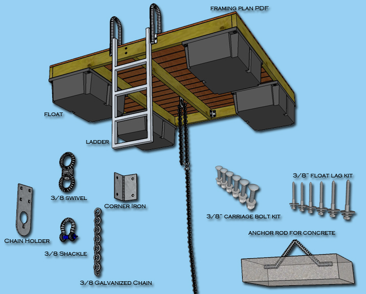 Floating Boat Dock Construction Plans