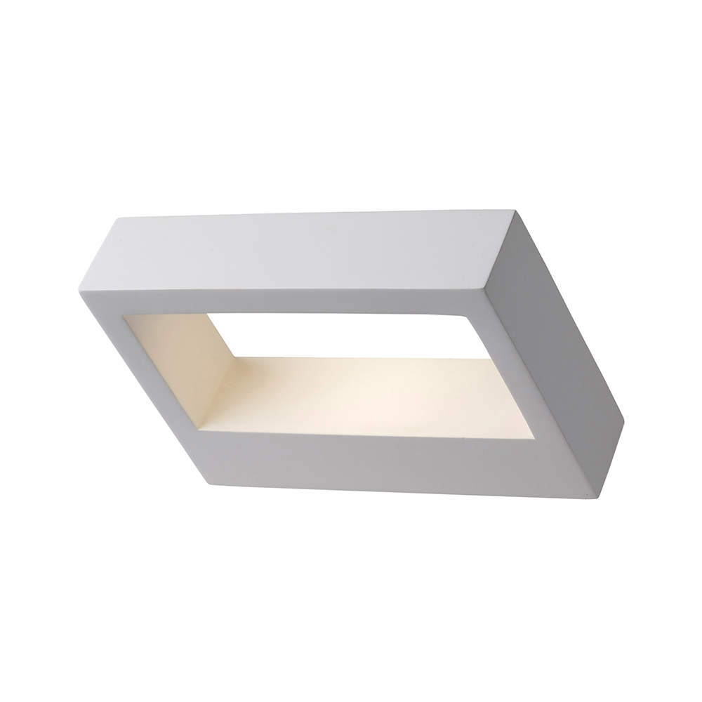 Gypsum Rectangular Wall Light