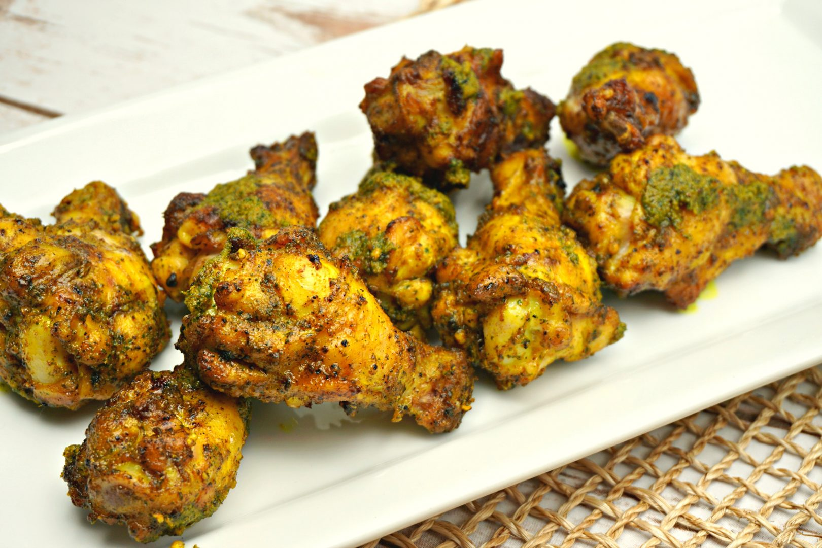 Tamil chicken wings_ sri lankan chicken wings_lemongrass cilantro chicken wings