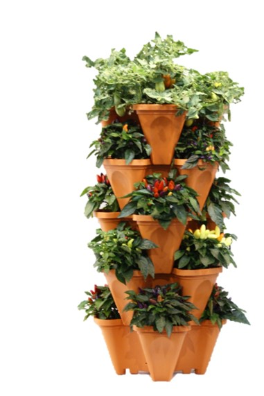 Grow Tower Stackable Pots Growin Crazy Acres