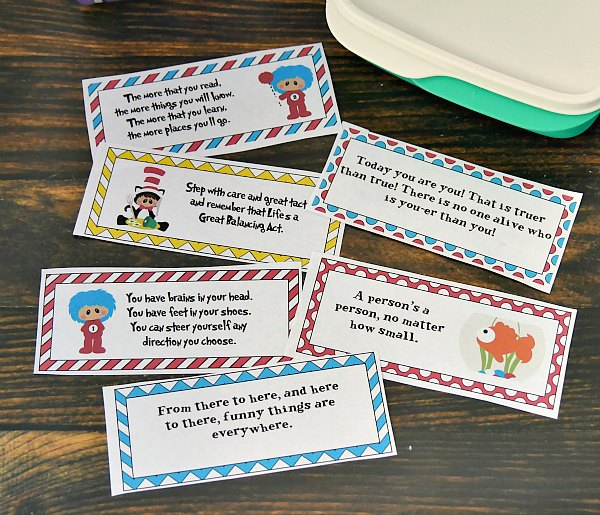 Dr  Seuss Lunchbox Notes for Kids Seuss Quotes