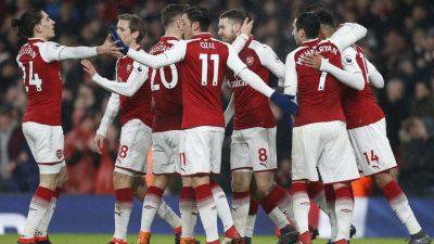 Aubameyang bags debut goal, Ramsey treble as Arsenal crush ...