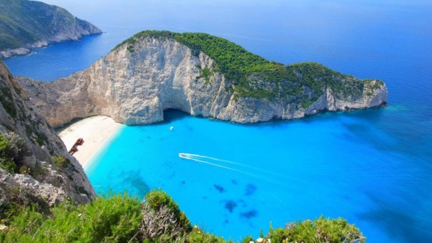 If You re Ever In Greece  You Should Check These Places Out         sometimes referred to as    Smugglers Cove     on the coast of Zakynthos   Zante   in the Ionian Islands of Greece  PHOTO CREDIT  Travel   Leisure