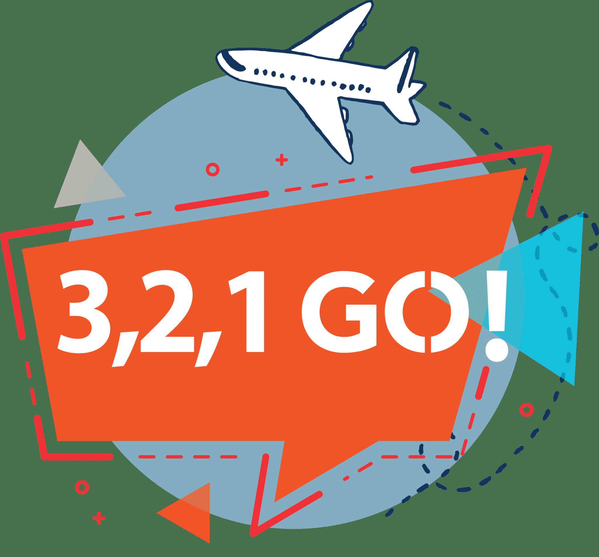 logo 3 2 1 go travel