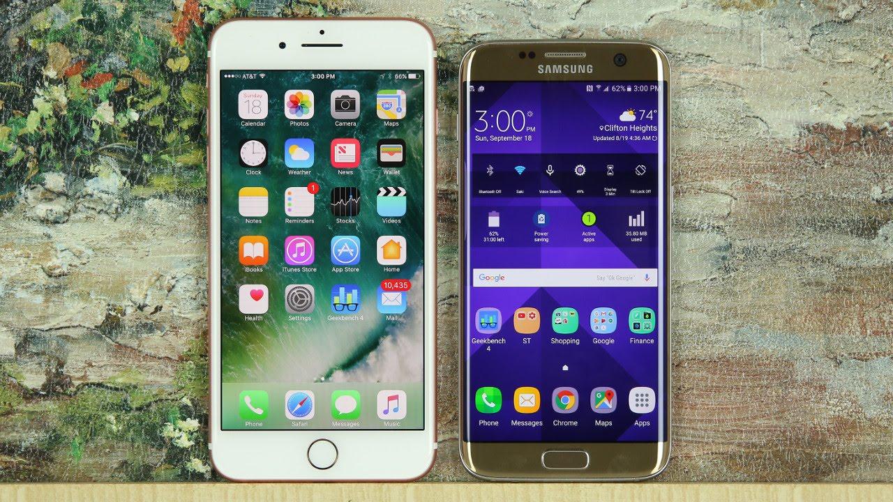 iphone 7 7 artı vs samsung galaxy s7 s7 kenar