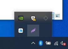 Windows жүйесінің төменгі панеліндегі Lightshot бағдарламасы белгішесі