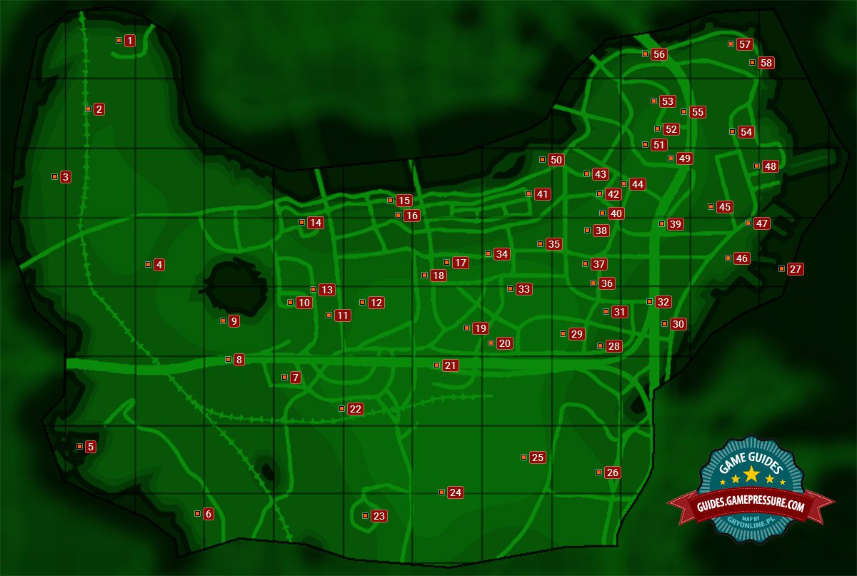 Map of Center of Boston   Sector 6   Fallout 4 Game Guide     Fallout 4   Sector 6  Center of Boston