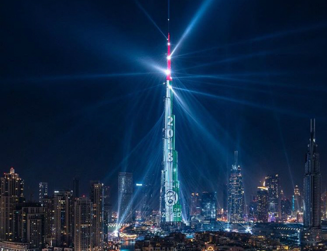 Dubai s New Year light show to play all week   Gulf Business Dubai s New Year light show to play all week