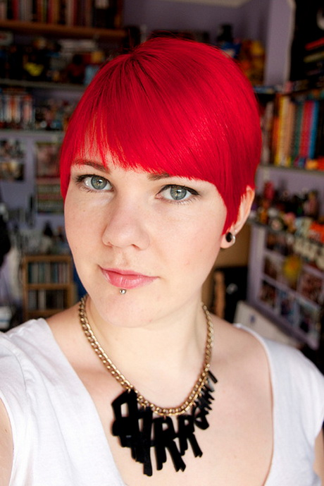 Short Female Haircuts Red