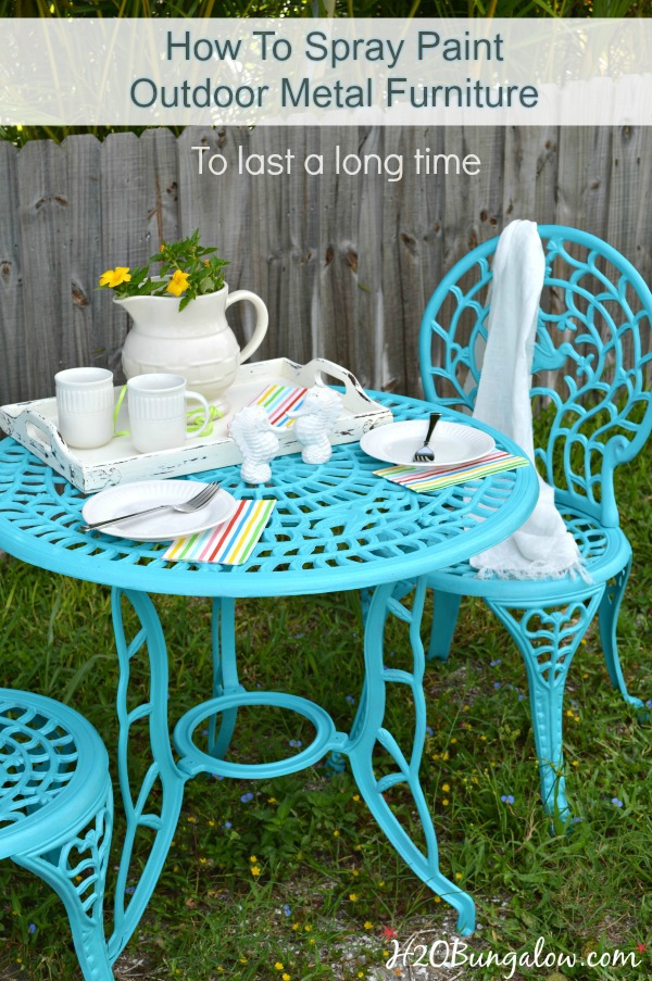 Spray Painting Outdoor Furniture
