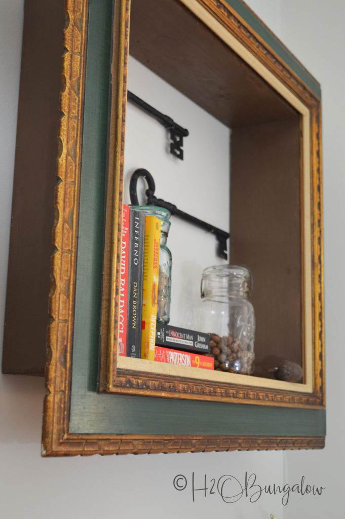 Diy Repurposed Picture Frame Wall Shelves H20bungalow