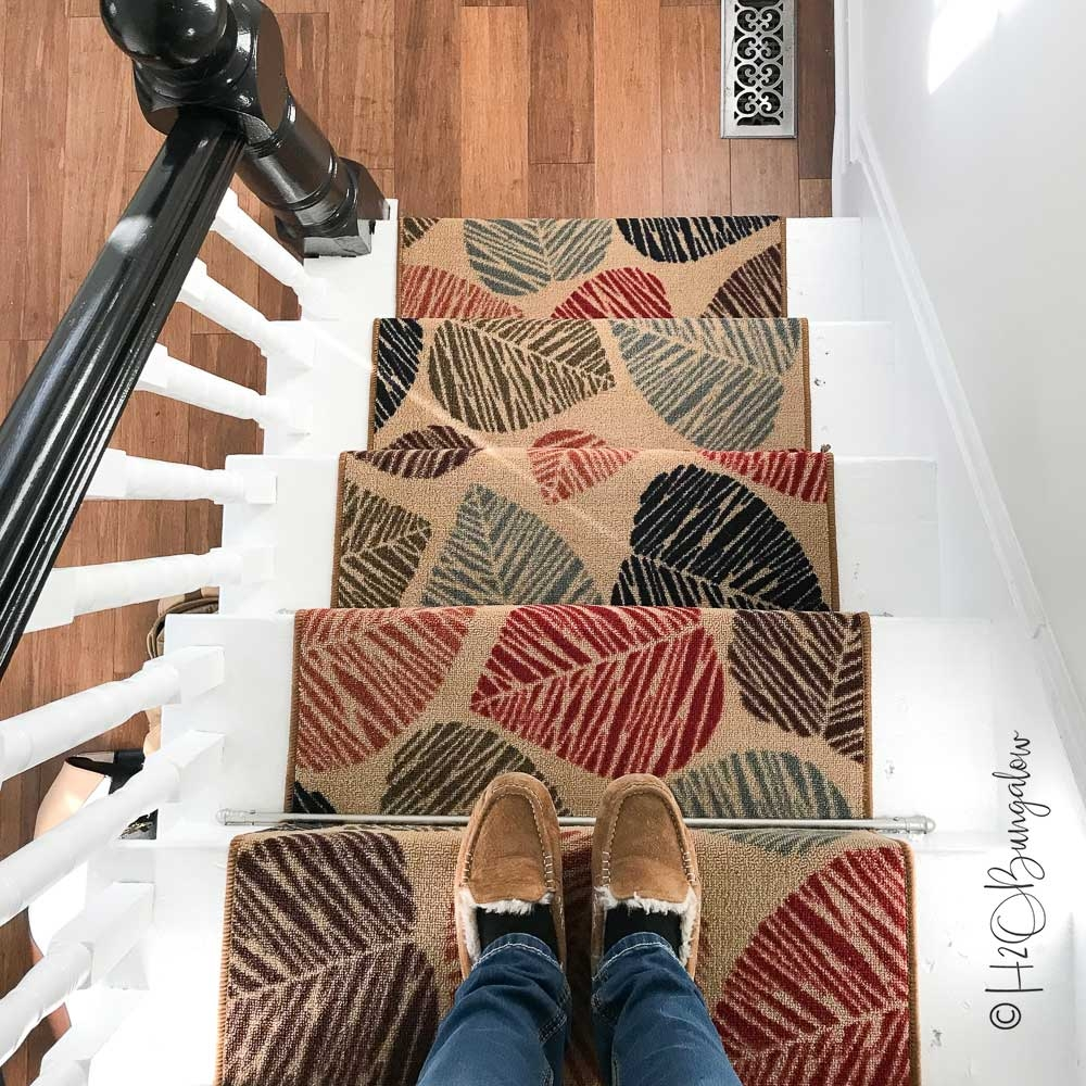 How To Install Carpet Runner On Stairs H2Obungalow | Home Depot Hall Runners By The Foot | Persian Rug | Area Rugs | Flooring | Staircase | Rug Runner