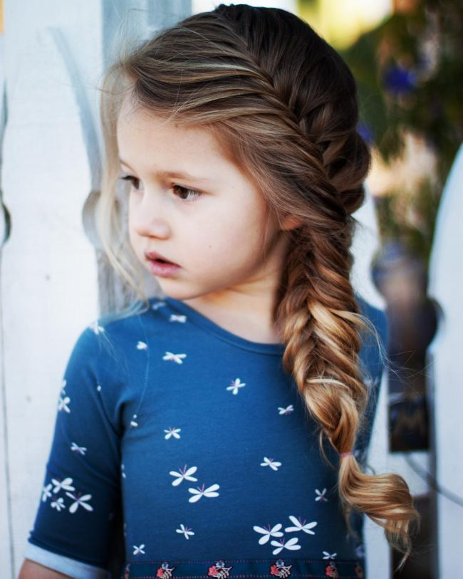 30 Super Cool Hairstyles For Girls Hugely trendy with women of any age  fishtail braids are a great way to  keep long  fine hair in place
