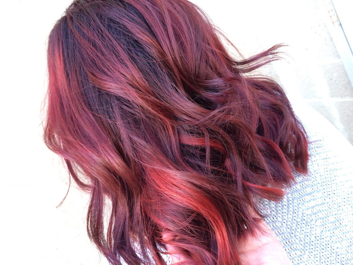 Red Highlights Black Hair Pictures Hrotelrehberii