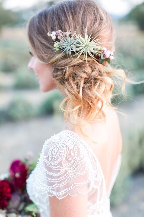 outdoor wedding hairstyles   Wedding Elegant Outdoor Wedding Hairstyles