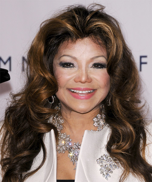 Latoya Jackson Formal Long Wavy Hairstyle - Dark Brunette ...