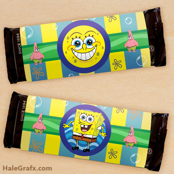 Free Printable Spongebob Squarepants Candy Bar Wrappers