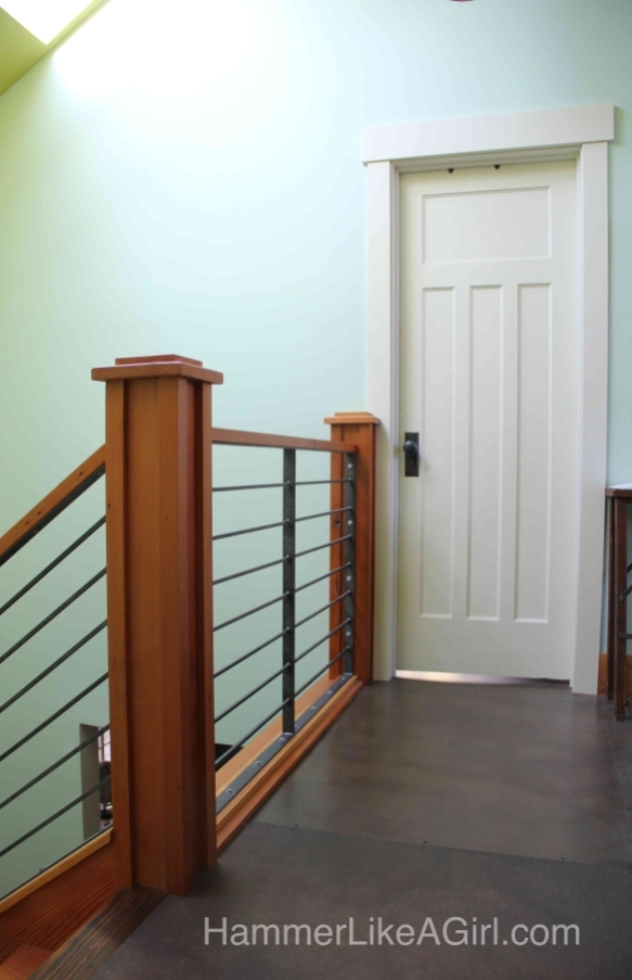 Staircase From Iron And Salvaged Wood Hammer Like A Girl | Modern Wood Stair Railing | Creative Outdoor Stair | Traditional | Indoor | Balustrade | Cherry Wood