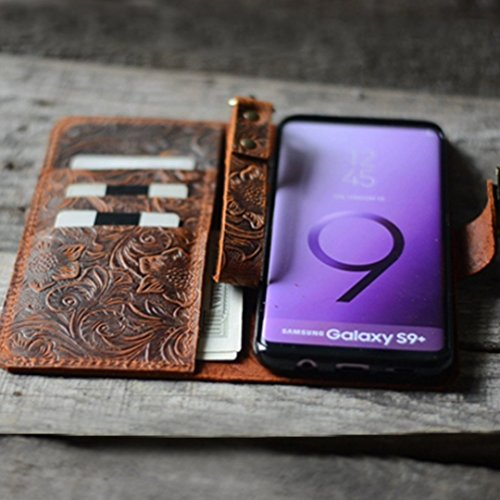 Handmade Retro Style Leather Wallet Case For Samsung