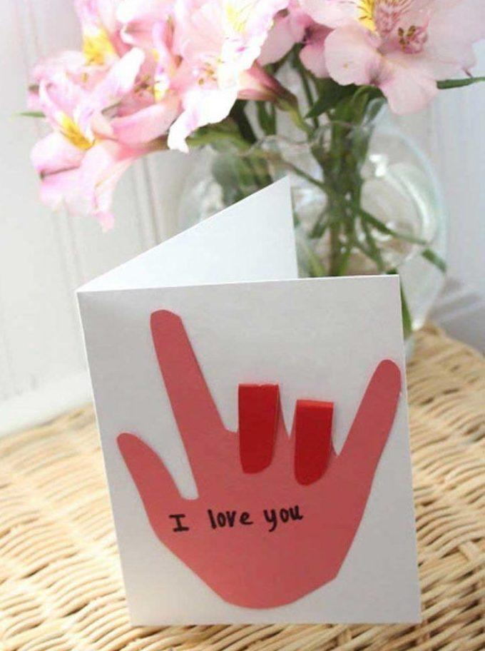 открытка с языком жестов